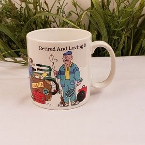 Russ Retired and Loving It 12 ounce coffee mug